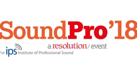 SoundPro2018 is now open for registration. Free.