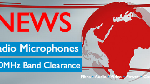Wireless mic 700mHz deadline 26 April 2019